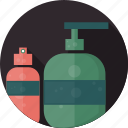 bottle, cosmetic, cream, gel, lotion, package, shower icon