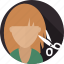 cut, hair, hair dresser, haircut, salon, wellnes icon