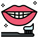 brush, dental, health, smile, teeth, whitening icon