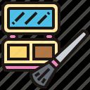 accessory, brush, cosmetic, facial, powder