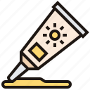 outdoor, protection, skin, summer, sunscreen icon