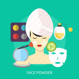 beauty, cosmetic, face, fashion, makeup, powder, skin icon