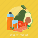 beauty, care, drink, fashion, fruits, health, product icon