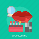 beauty, colouring, cosmetics, fashion, girl, lips, lipstick icon