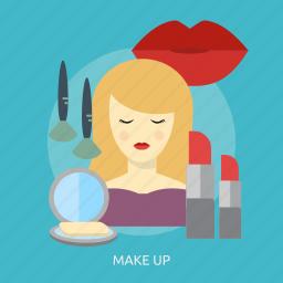 beauty, brush, cosmetic, fashion, lipstick, makeup, powder icon