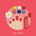 beauty, brush, fashion, glamour, nail, paint, polish icon