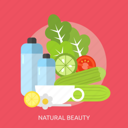 beauty, fashion, flower, fruits, health, natural, oil icon