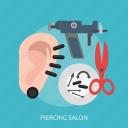 beauty, ear, fashion, metal, piercing, salon, spike