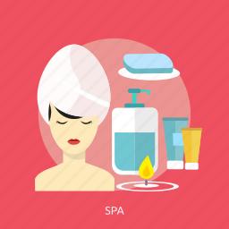beauty, care, fashion, health, herbal, massage, spa icon