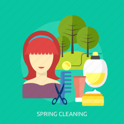 beauty, bottle, cleaning, cosmetic, fashion, spring, tree icon