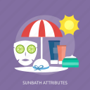 beauty, care, fashion, hat, summer, sunbathe, umbrella icon