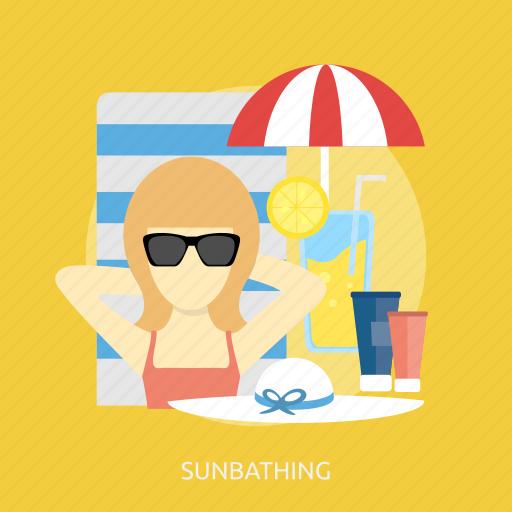 beauty, fashion, summer, sunbathing, tropical, umberella, vacation icon