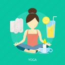 beauty, fashion, health, relax, sport, workout, yoga icon