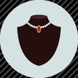 jewelry, jewelry showcase, necklace icon
