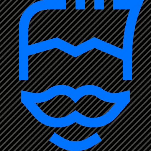 avatar, beauty, face, man, mustache, profile, salon icon