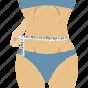 waist, fitness, slim waist, measuring waist, waistline icon