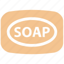bar soap, clean, cleaning, dirty, hand, hand wash, soap, wash, washing icon