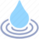 carton, drop, nature, spa, water, water drop icon
