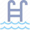 pool, staircase, staircase s, swim, swimming pool, swimming staircase, waves icon