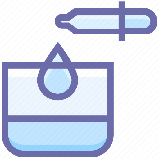 beauty, drop, glass, lab, spa, test, test tube, treatment, water icon