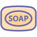 bar soap, bath, clean, cleaning, dirty, hand wash, soap, wash, washing icon