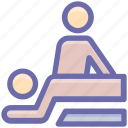 back massage, beauty, massage, relax, spa, treatment, wellness icon