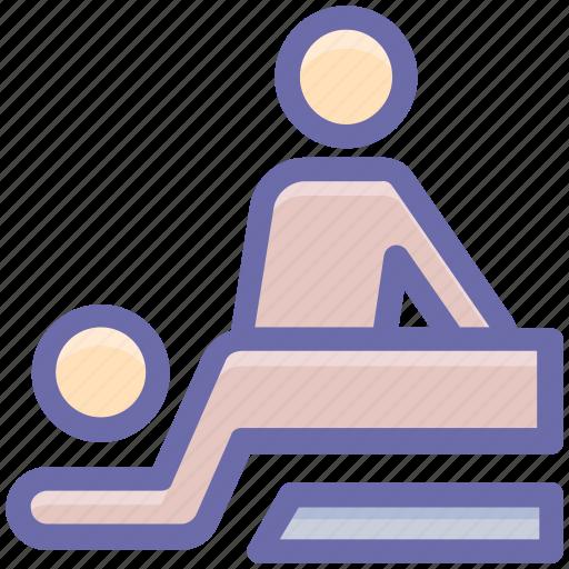 back massage, beauty, massage, relax, spa, treatment, wellness icon