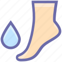 bathroom, drop, foot, saloon, spa, water drop icon