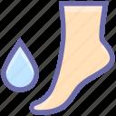 bathroom, drop, foot, saloon, spa, water drop icon