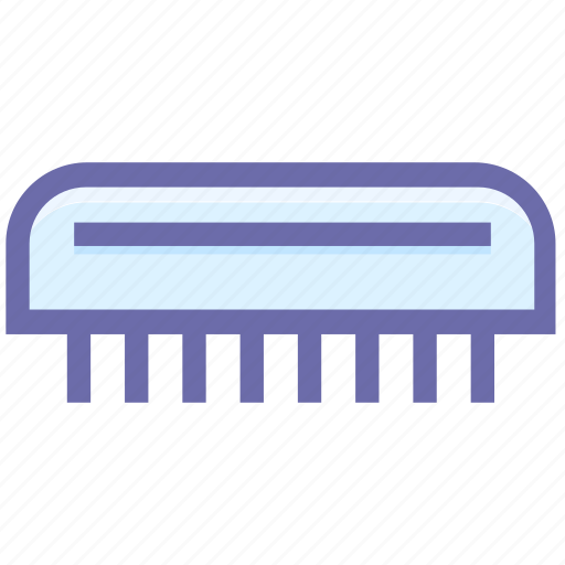beauty, brush, comb, flat comb, hair comb, wide tooth comb icon