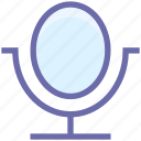 beauty, care, cosmetics, makeup, mirror, spa salon, table mirror icon