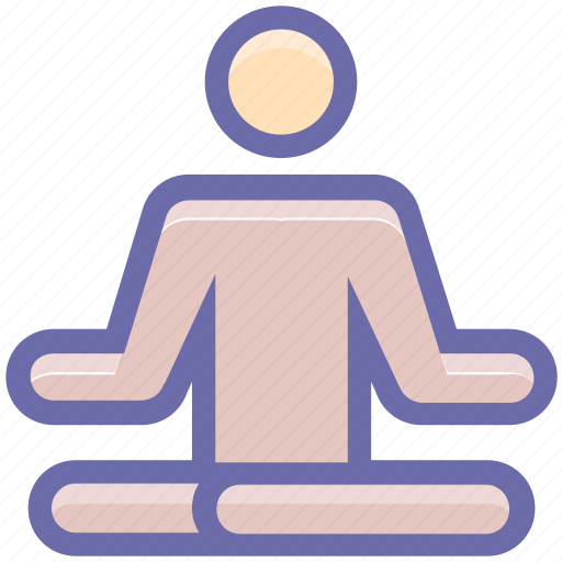 exercise, fitness, levitate, lotus, man, meditation, people, yoga icon