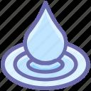 ater, cartoonw, drop, nature, spa, water drop icon
