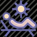 parasol, spa, sun, sun tanning, sunbathe, tanning icon