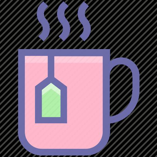 coffee, cup, drink, hot, hot coffee, mug, tea, tea cup, tea pack icon