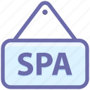 beauty, board, salon, shop, signboard, spa, spa location icon