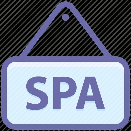 beauty, board, salon, shop, signboard, spa, spa location icon