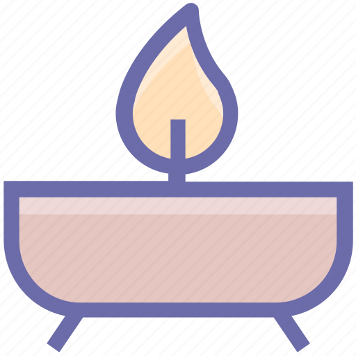candle, lamp, plate, scented, spa, traditional icon