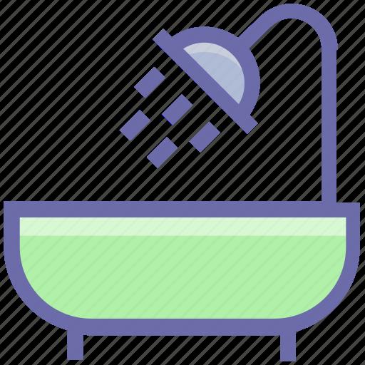 bath, bathing, bathroom, bathtub, koehler, restroom, shower, showering, tub icon