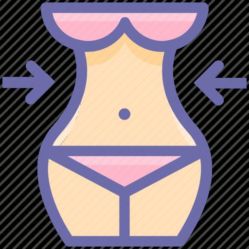 abdomen, beauty, body, female, healthy, slim, waist icon