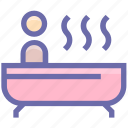 bath, bathtub, beauty, jacuzzi, relax, relaxation, spa icon