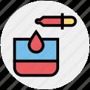 beauty, drop, glass, lab, spa, test tube, treatment icon