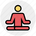 exercise, levitate, lotus, man, meditation, people, yoga icon