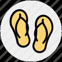 flip flops, footwear, sandals, slipper, strappy footwear icon