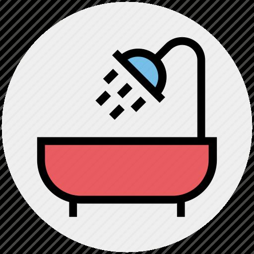 Bath, bathing, bathroom, bathtub, restroom, shower, tub icon - Download on Iconfinder