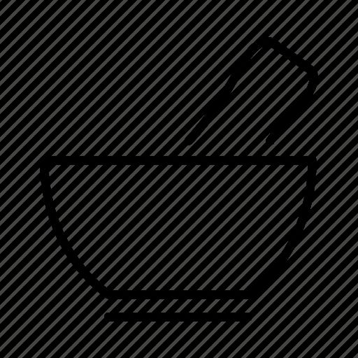 formula, ingredients, mortar, preparation icon