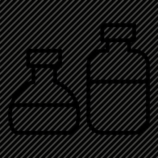 bottles, formula, lotion, oils icon