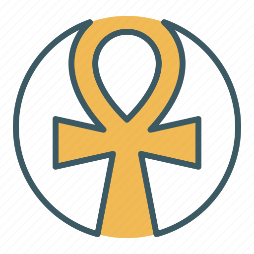 ancient, ankh, cross, egypt, egyptian, life, sign icon