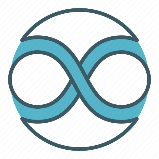 circle, cycle, forever, infinity, loop, sign icon