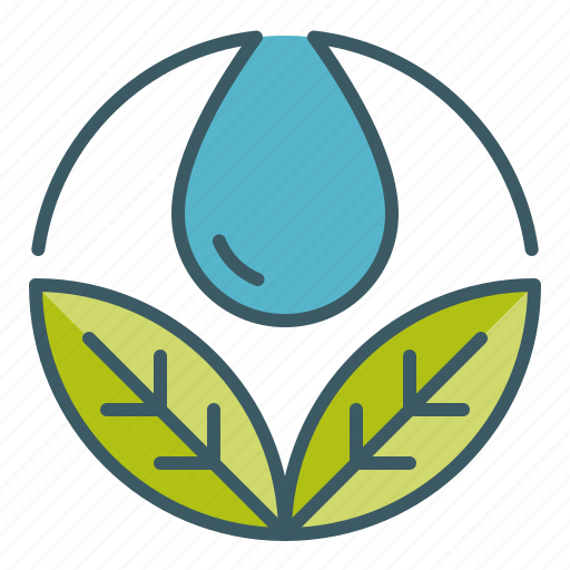 circle, hydration, leaves, spa, water icon